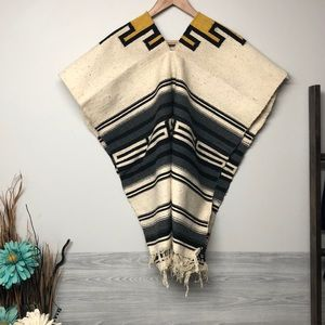 Mexican Tribal Poncho 100% Algodon